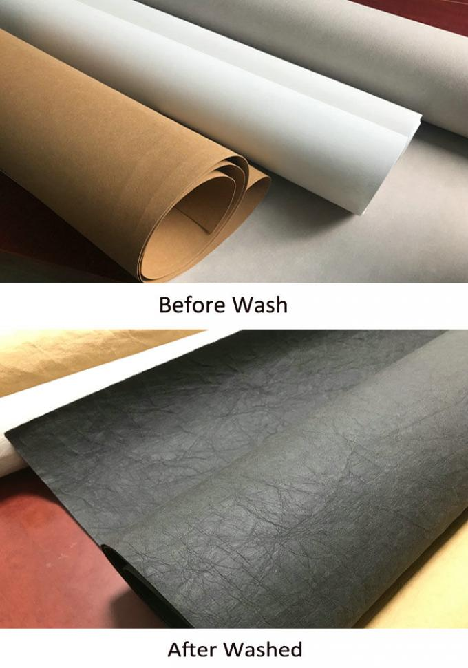 Handbags Material Fabric Washed Paper Durable Roll Washable Kraft Paper 0.5mm